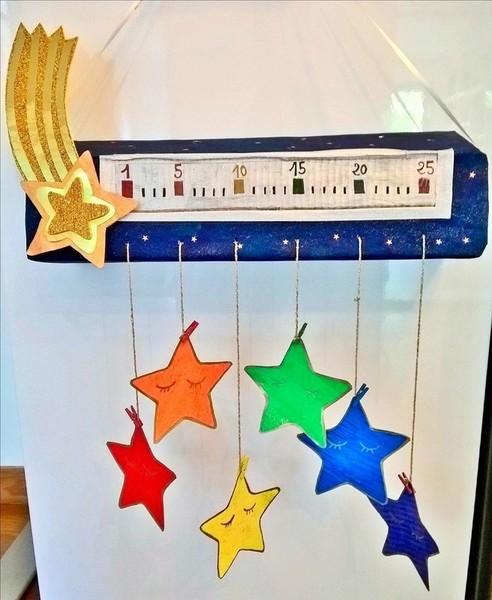 Le calendrier de l'Avent étoilé (et ses surprises à gratter)-Vivement le premier décembre!