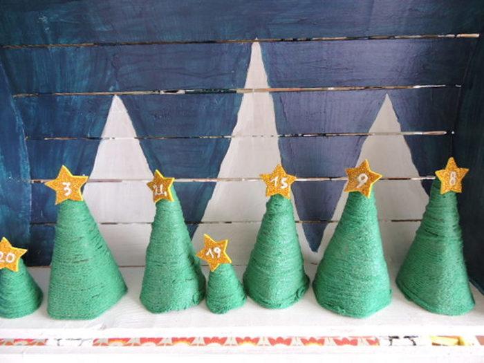 Avent Noël sous une tempête d'étoiles...-Les sapins de Noël
