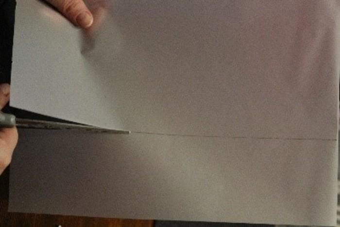 Photophore d'hiver-Application du papier calque sur le bocal