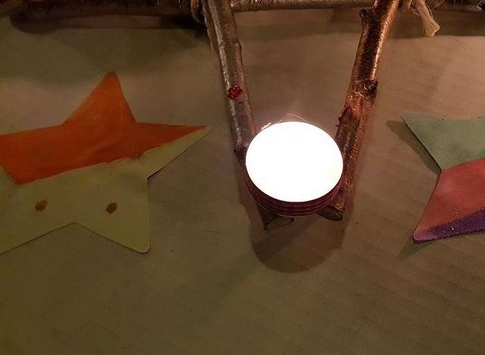 Bougeoir de l'Avent extérieur-Allumer les bougies ...
