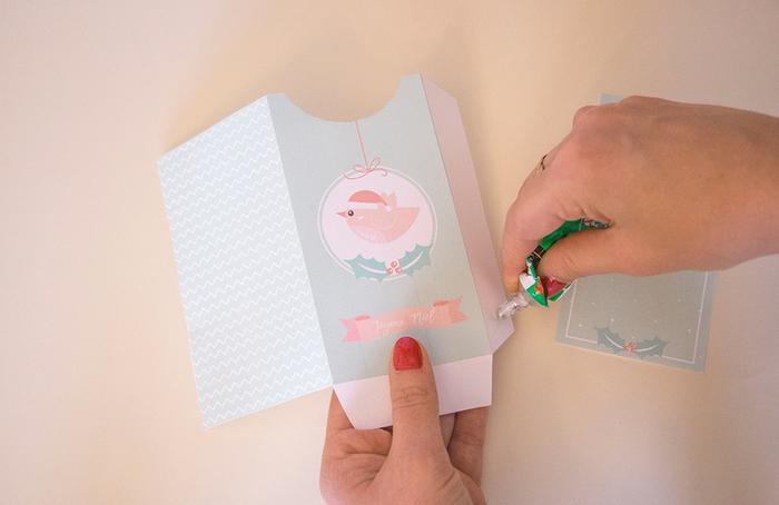 Boites cadeaux et cartes de Noël à imprimer-PLIER ET COLLER LES BOITES ET CARTES