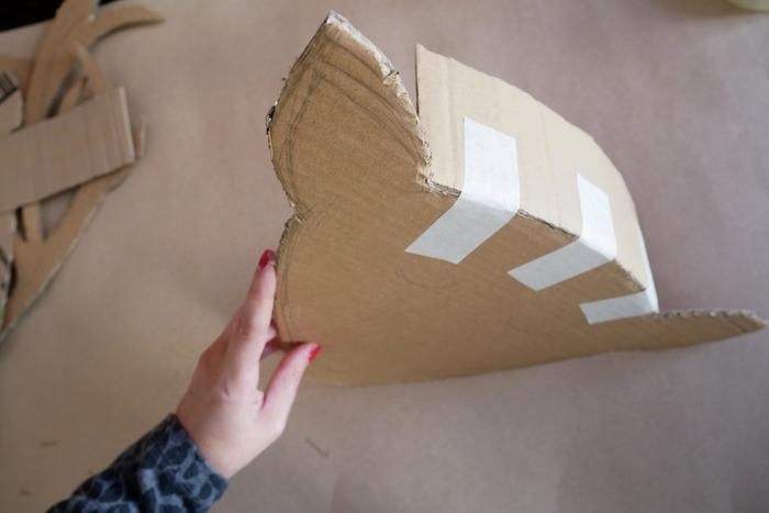 Le trophée renne façon piñata-L'assemblage