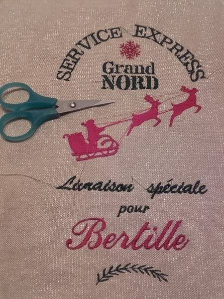 Sac à cadeaux écologique, durable et réutilisable-Broderie et personnalisation du sac