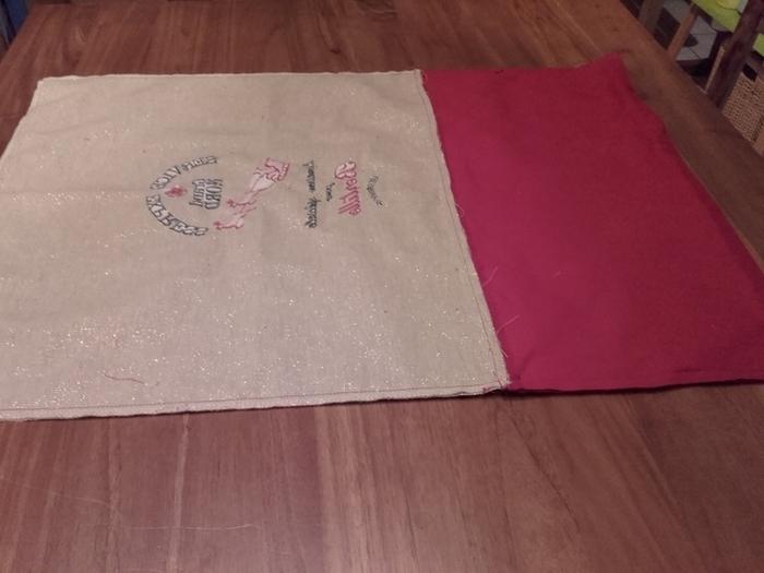 Sac à cadeaux écologique, durable et réutilisable-Montage du sac