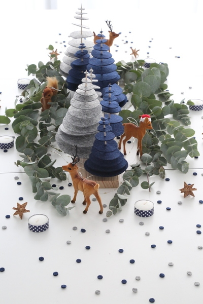 DIY Noël : une forêt enchantée pour un centre de table magique !-Réalisation de la forêt de sapin