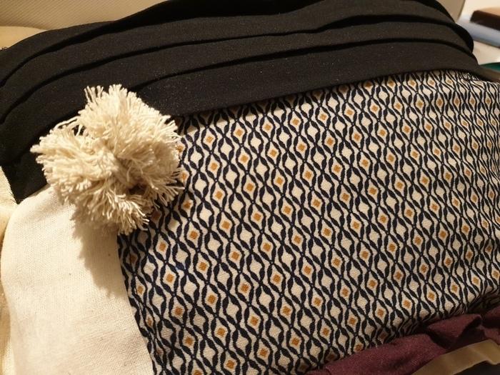 Housse de coussin : Totebag+vieux vêtements-Customiser