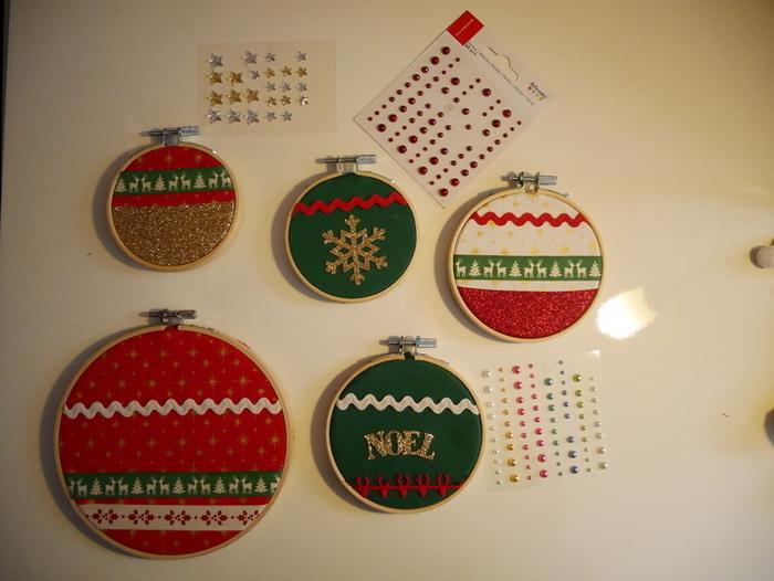 Les tambours de Noël-Finalisation de nos boules de Noël