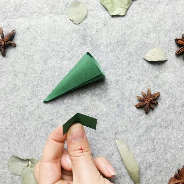 Calendrier de l'Avent façon couronne de Noël -Les sapins