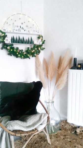 Calendrier de l'Avent façon couronne de Noël -Résultat final