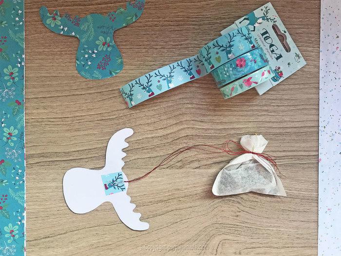 Tisane de Noël customisée-Préparer les sachets de tisane