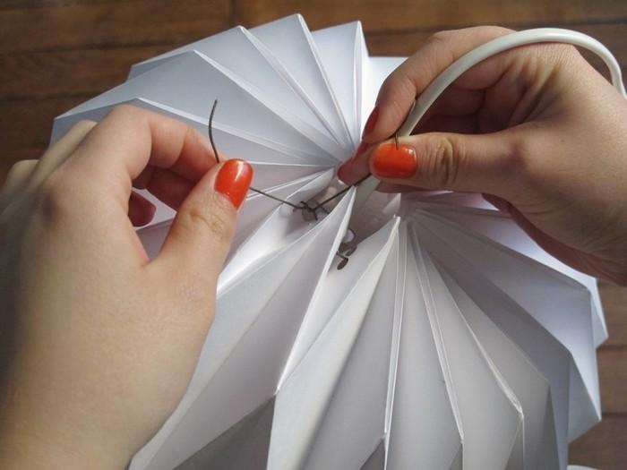Abat-jour origami -Fil supérieur