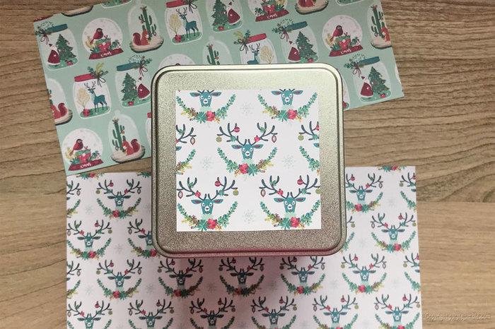 Tisane de Noël customisée-Décorer une boite métallique