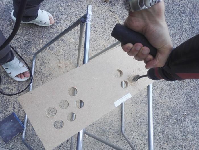 Fabriquer un bartop (une mini borne d'arcade)-Emplacement boutons