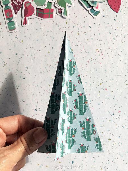 Décor de Noël en papier-Fabriquer des sapins en papier