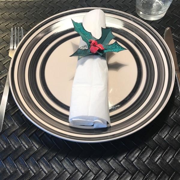 Rond de serviette pour table de fête !-Hop c'est fini !