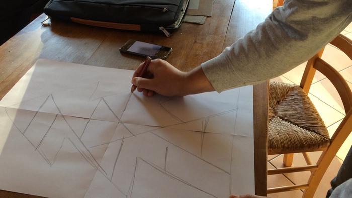 Un sapin géométrique en métal !-Design