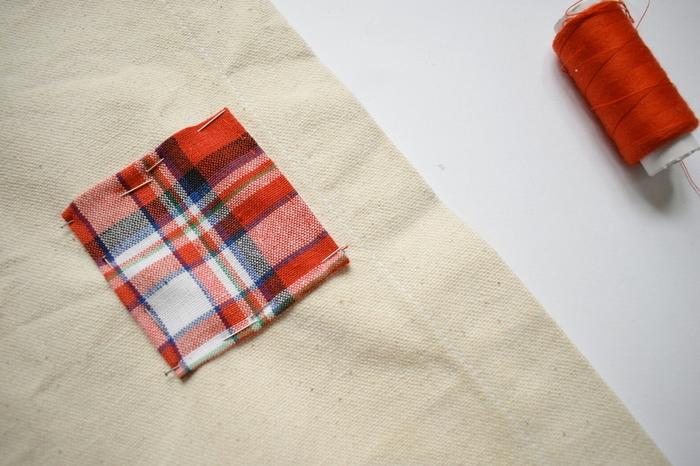 Un fanion de l'Avent-Préparation de la couture