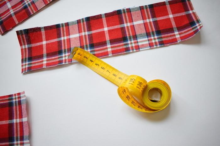 Un fanion de l'Avent-Découpage des petites poches