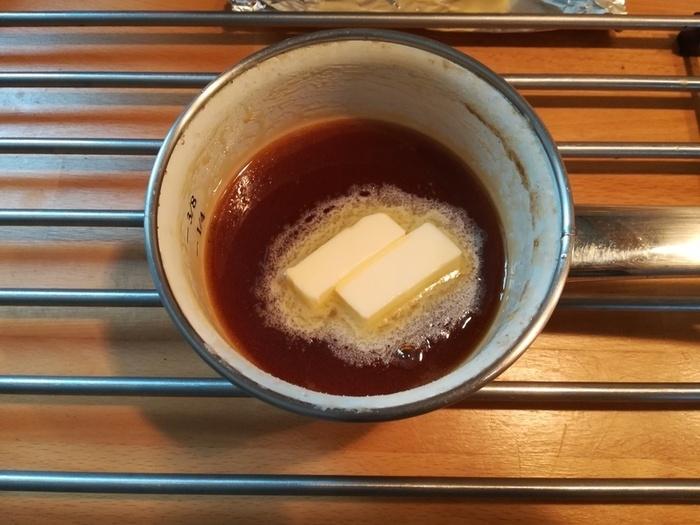 Bûche au caramel au beurre salé-Réalisation du caramel