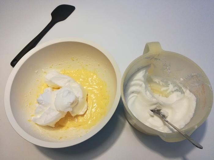 Bûche au caramel au beurre salé-Réalisation de la génoise
