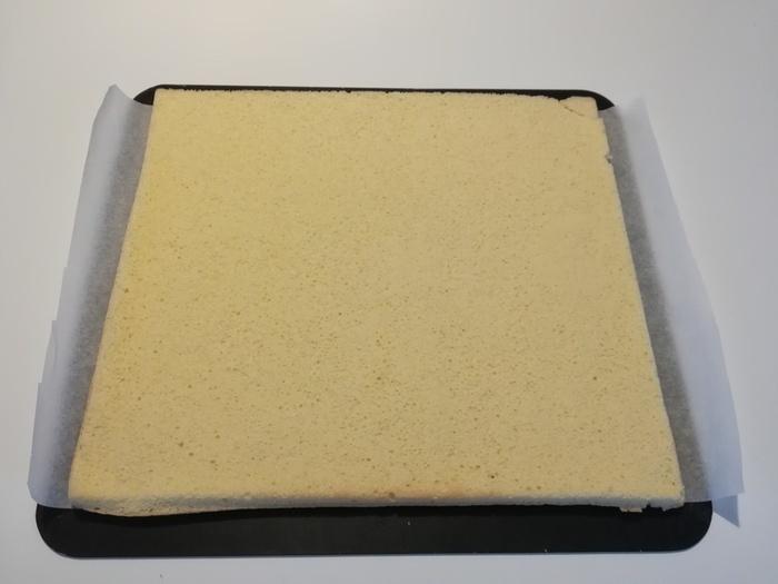 Bûche au caramel au beurre salé-Le montage