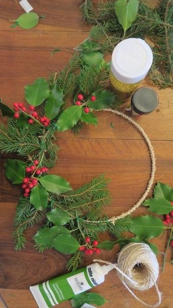 Couronne de Noël 2018-Confection de la couronne