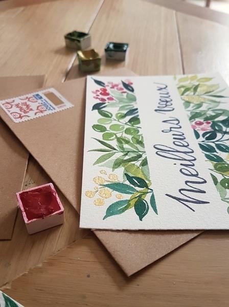 Carte de Voeux à l'aquarelle-