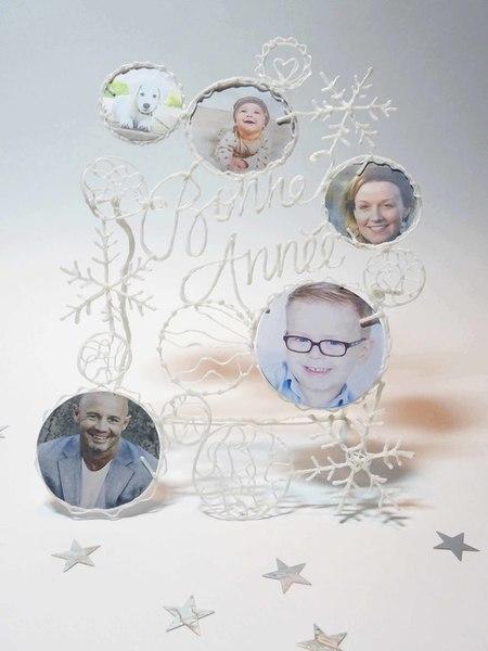 Une carte de Voeux au Stylo 3D-Bonne Année!