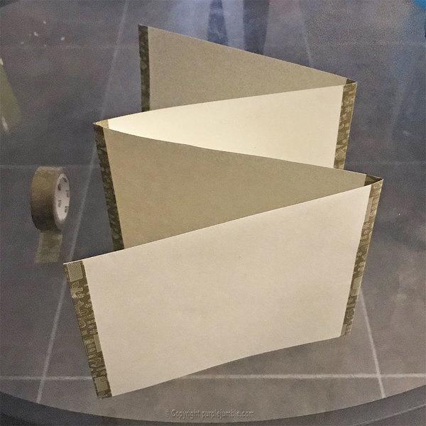 Carte de vœux à déplier-Fabriquer la carte en forme d'accordéon
