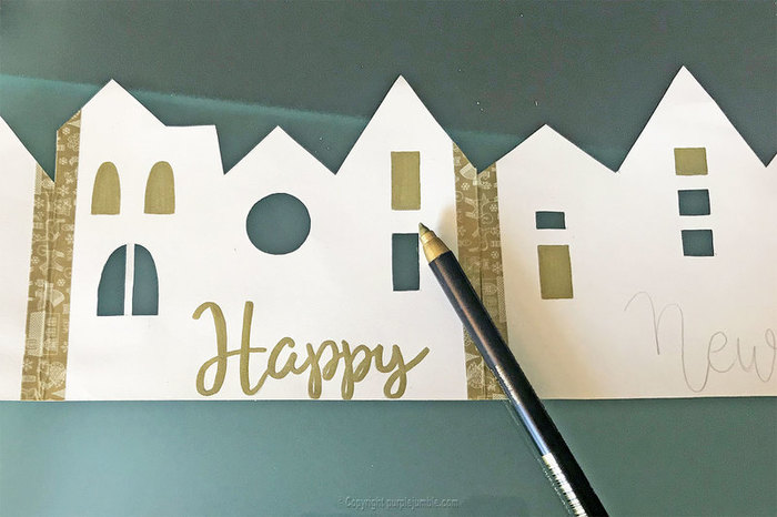 Carte de vœux à déplier-Handlettering
