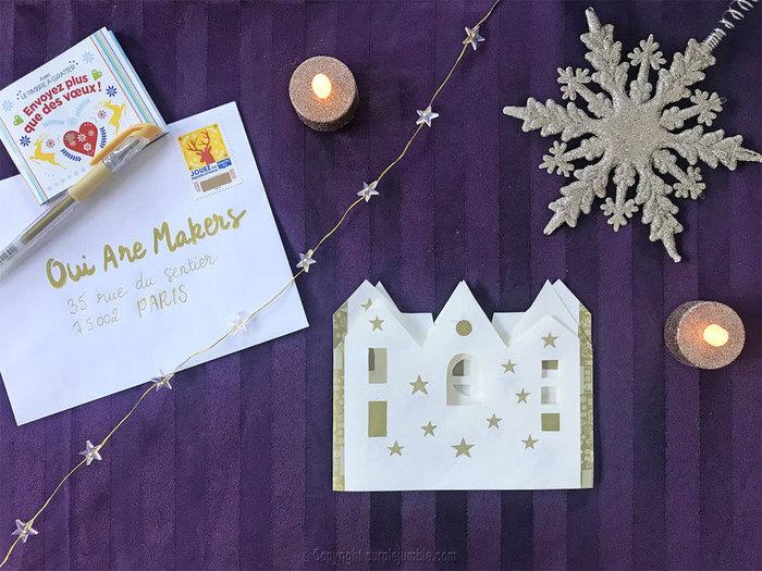 Carte de vœux à déplier-Une carte de vœux prêt à être postée !