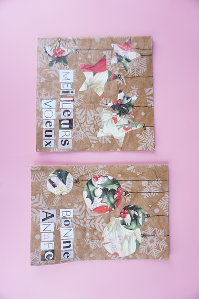 Carte de vœux en papier cadeau-Bonne fête à tous !
