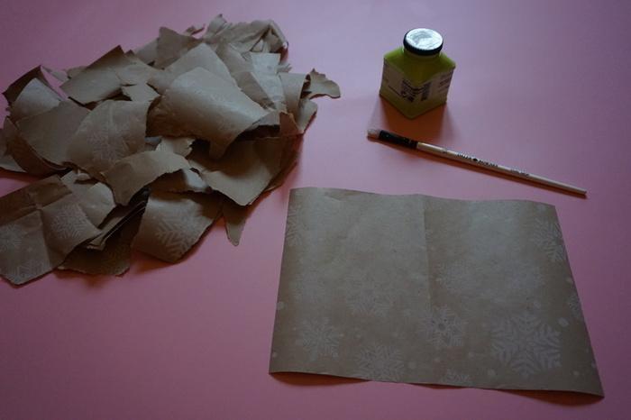 Carte de vœux en papier cadeau-Fabrication du support de carte