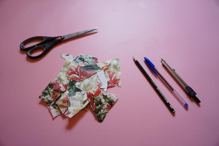 Carte de vœux en papier cadeau-Les motifs