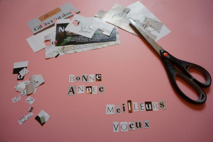 Carte de vœux en papier cadeau-Les messages