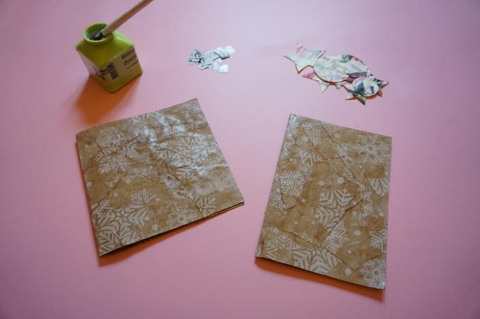 Carte de vœux en papier cadeau-Montage de la carte