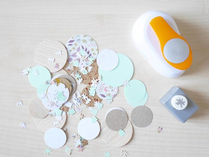 DIY & Carte de voeux confettis-Remplissage de la carte de voeux