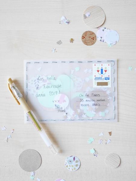 DIY & Carte de voeux confettis-À vous de jouer !