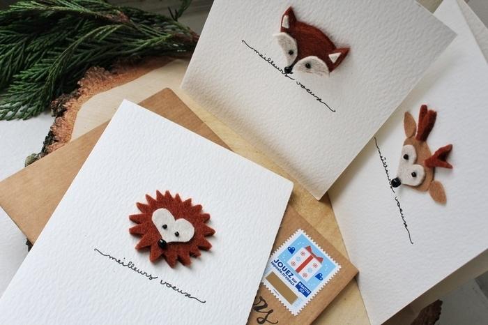 Carte de vœux animaux de la forêt -Prêt à poster !