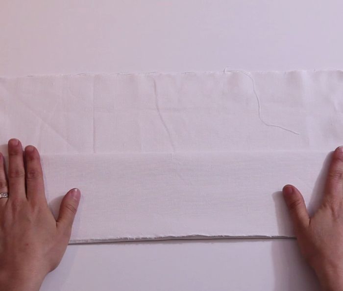 Fabriquer un emballage cadeau zéro déchet et réutilisable-Préparer le pliage shibori