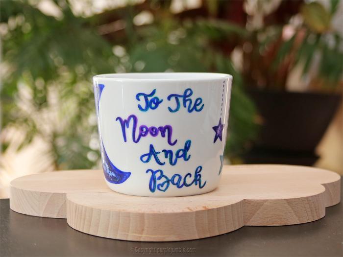 Mug de saint valentin-Passer au four pour fixer l'encre