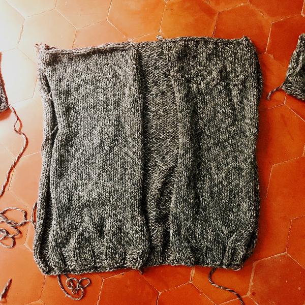 Cardigan oversize au tricot (sans patron)-Tricotez !
