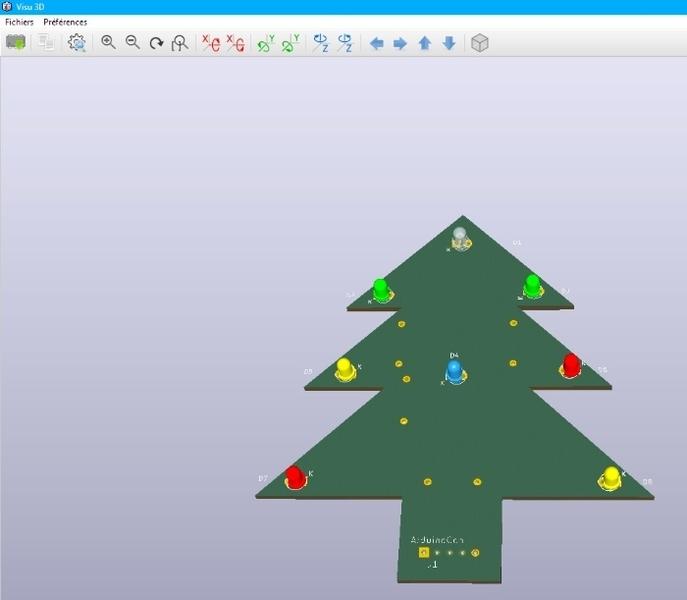 Sapin de Noël animation 8 LED- dessin du circuit avec Kicad 4.01