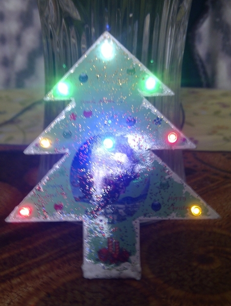 Sapin de Noël animation 8 LED- confection du Sapin