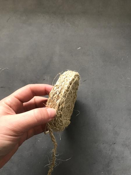 Panier en corde tréssée DIY-Assemblage