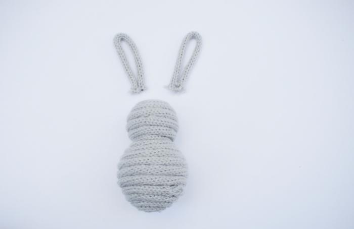 Un Lapin en tricotin-L'assemblage