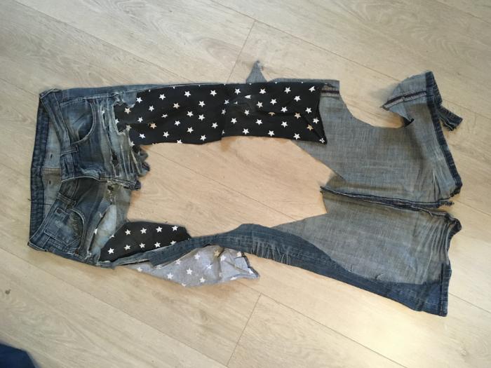 Baleine en Jeans Upcyclé-Patronnage