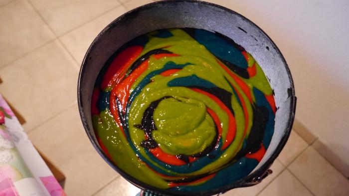 Le gâteau magique de la sorcière-Réaliser le zébra cake