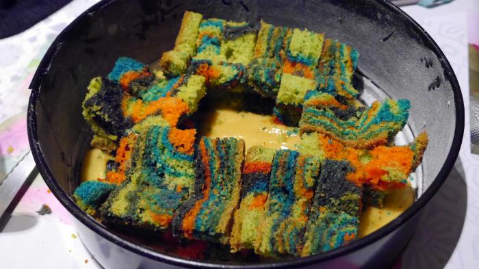 Le gâteau magique de la sorcière-Cacher le zébra cake au sein du cake
