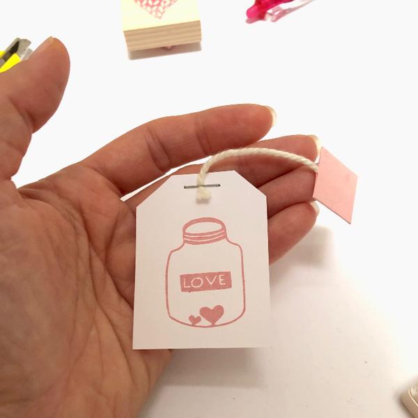 Carte tasse de thé et son sachet mot doux-Préparation du sachet de thé